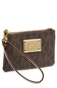 MICHAEL Michael Kors 'Signature' Wristlet available at #Nordstrom