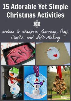 Adorable yet simple Christmas Activities for kids - definitely a list I will come back to over and over again. Christmas Books, Family Christmas, Simple Christmas, Christmas Holidays, Christmas Ideas, Christmas Activities For Kids, Fun Activities, Glitter Cards, Holiday Crafts
