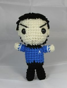 Mr. Spock Amigurumi - FREE Crochet Pattern / Tutorial (Because this is quite possibly the most awesome amigurumi I've seen to date. - H)