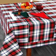 New Post red table runner and placemats