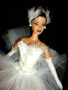White Swan / Black Swan barbie doll ooak