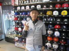 【新宿1号店】 2014年5月12日 ヤンキースのユニフォームがとってもお似合いです。 また東京に遊びに来られた際は当店お立ち寄り下さいね。#mlb