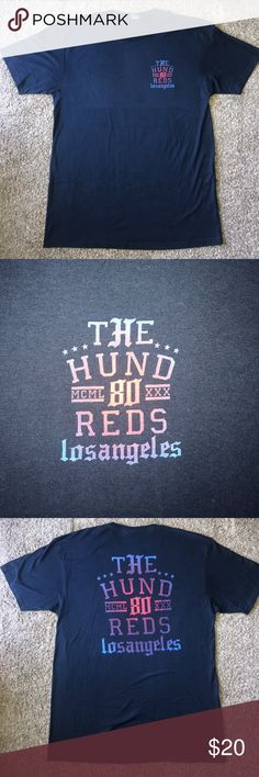 The Hundreds T-Shirt Navy blue men's tee. Says The Hundreds Los Angeles in blue and red coloring. Only worn once in brand new condition. The Hundreds Shirts Tees - Short Sleeve