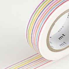 MT Washi Tape - Colored Pencil Stripe