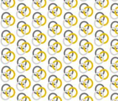 Gray and Mustard Circles fabric by reganraff on Spoonflower - custom fabric