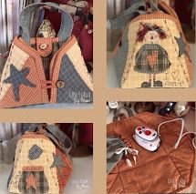 Patchwork Bags, Quilted Bag, Amish Dolls, Anni Downs, Paper Piecing, Pin Cushions, Wool Felt, Sewing Projects, Crafty