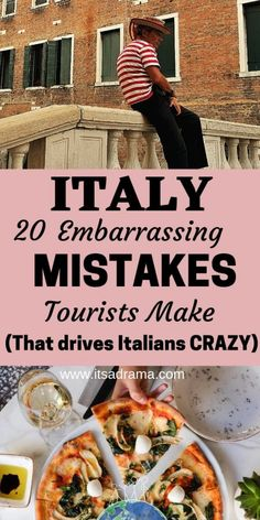 Planning a Trip To Italy. 21 (Huge) Mistakes That Scream No - It's a Drama Planning a trip to Italy? Don't make these 21 RIDICULOUS common mistakes when arriving in Italy. Kissing, greeting, eating, drinking and flying Restaurants In Paris, Cinque Terre, Italy Travel Tips, Travel Destinations, Traveling To Italy Tips, Italy Packing List, Rome Travel, Budget Travel, Italy Vacation