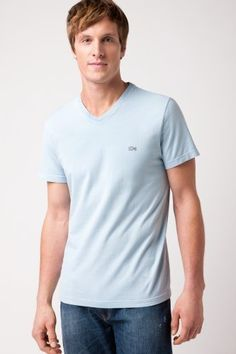 V-neck dyed t-shirt from Lacoste