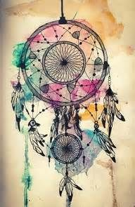 Watercolor and dreamcatcher