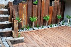 Rustic retaining wall (seen at http://yourspacelandscapes.com.au/YSLServices-RetainingWalls.html)