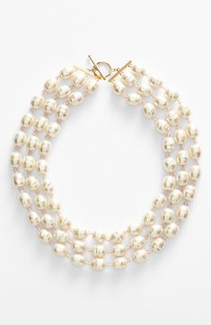 Pure beauty | Pearl & pink crystal multistrand necklace.