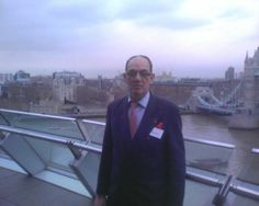 On the top floor balcony of the GLA, City Hall, London (LW15-4)