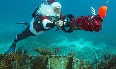Scuba-Santa plus a listing of Florida Keys and Key West events from Rum Shop Ryan