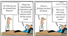 Humor - Cartoon: Business Analyst Keeps the Requirements Safe