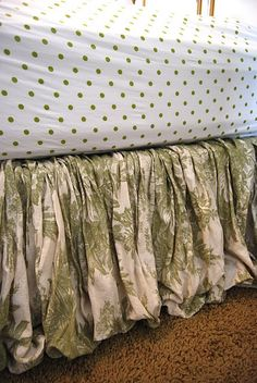 bed skirt made with fabric NO SEW