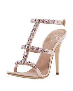 87c99e08a213 Giuseppe Zanotti Crystal-Embellished T-Strap Sandal - Shoes Post