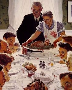 Zombie Rockwell Thanksgiving