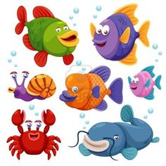 Illustration of fish collection Stock Photo