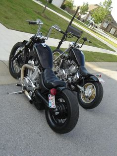 Yamaha Virago Bobber Motorcycle Shots of both bikes