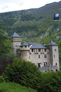 chateau, Cevennes National Park, Laval, Languedoc-Roussillon, France