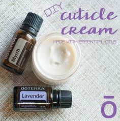 Making your own cuticle cream is super easy! The essential oils make it smell so…