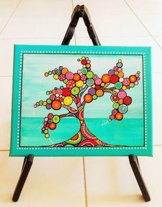 """""""L'arbre aux couleurs"""" peinture sur toile"""