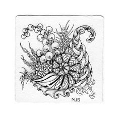 Zentangle tile by Norma J Burnell