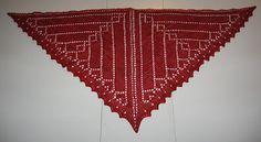 Beautiful knit Celtic Hearts Shawl