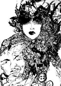 Pearly Queen - watercolour, ink, 2014 #iamdanielfisher #art #fashionillustration