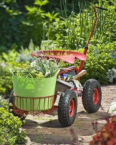 may need to think about this a while.....Deluxe Tractor Scoot - $99.95 // makes gardening easy on the back
