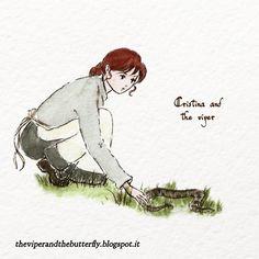 From 🐍 LA VIPERA E LA FARFALLA 🦋, our animated #webcomic about war and plague, love and destiny in Italian Alps in 1917. English, French and Italian versions. #comics #manga #romance #Alps #Italy #witch #ww1 #drama #watercolour #lagomaggiore