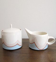 Tea parties will be even sweeter when you pull out this terracotta sugar and creamer set.