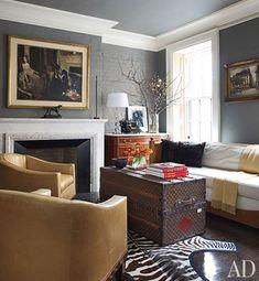 Brooke Shields NY Pad-Vintage Louis Vuitton Trunk