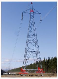 350KV High Voltage DC transmission towers (350KV HVDC TOWER) In the power transmission line project, high voltage refer to voltage refer to from 300KV to 1000KV (not including). In these project the towers must be designed to carry three (or multiples of three) conductors. The towers are usually steel lattices or truss, in direct current power transmission project come the name of High voltage DC transmission towers.