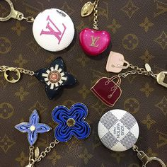 The cutest accessories for your favorite LV bag! Shop all of our LV Charm Keychains #louisvuitton #louisvuittonaccessories #louisvuittonhandbags #purselover #socute #bagsofTPF #purseblog #lvlover #fashion #trendy #luxury #moshposhfinds #mymoshposh #designerhandbags #designerconsignment