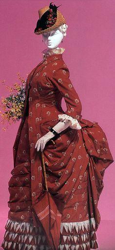 """Dolly Varden"" dress ca. 1870s Fashion, Edwardian Fashion, Vintage Fashion, Historical Costume, Historical Clothing, 19th Century Fashion, 18th Century, Dolly Varden, Vintage Magazine"