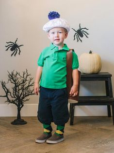 Golfer Halloween Costume | HGTV >> http://www.hgtv.com/design-blog/how-to/31-diy-halloween-costumes-to-start-making-now?soc=pinterest