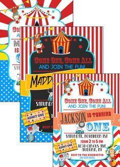 Karneval Zirkus Geburtstag Einladung County Fair Von Sweetteas