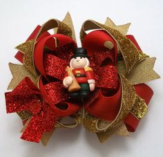 Christmas Red And Gold Twisted Boutique por JustinesBoutiqueBows, $9.95