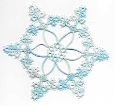 Tatted Ice Snowflake 2