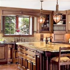 This is what I would love for my kitchen to look like, rustic with a touch of western.