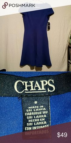 Chaps dress size 8 New with tags blue chaps dress size 8  95% polyester 5% elastane Chaps Dresses