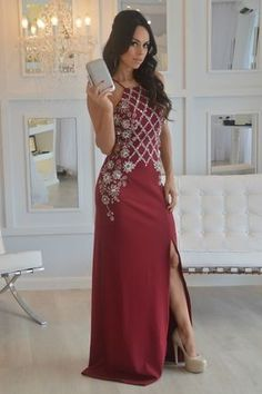 Vestido de festa 2017 em tons de vinho: marsala, bordô (bordeaux), burgundy