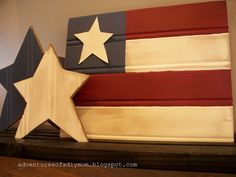 homemade 4th of of july project is so simple… and SO cute ~ a 4th of July Bead Board Flag