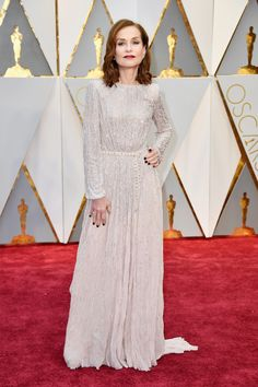On Isabelle Huppert: Armani Privé dress. 5 Unconventional Bridal Looks to Copy From the Oscars Red Carpet via @WhoWhatWear