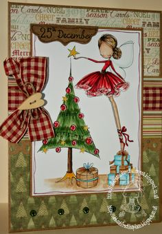 Freckles Place: ABC Christmas - N is for Numbers  All Dressed Up digi stamps