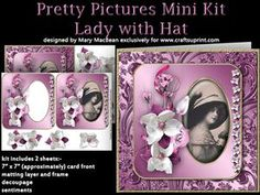 Pretty Pictures Mini Kit - Lady with Hat