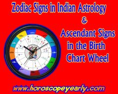 Zodiac Signs in Indian Astrology & Ascendant Signs in Birth Chart Wheel-The zodiac signs that we know in Western influence has other term for the Indian Astrology. The Vedic Astrology shows what the factors that deals with it are and us how it is. The signs in Vedic Zodiac signs are called Rashis in Sanskrit. Vedic astrology is the traditional astrology of the Indian subcontinent, natively known as Jyotisa. Vedic astrology...Learn More…