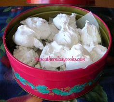 "EASY CHRISTMAS DIVINITY ""This divinity is so easy to make in the microwave and so good. You won't ever make it any other way again!  Makes a great gift, too.""  TheSouthernLadyCooks.com"