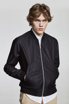 The Makia Departure Jacket is a bomber influenced light summer jacket with an Oxford lining. The jacket has one interior chest pocket and two exterior pockets and a metal YKK zipper. Summer Jacket, Oxford, Exterior, Zipper, Pockets, Spring, Metal, Clothes, Collection